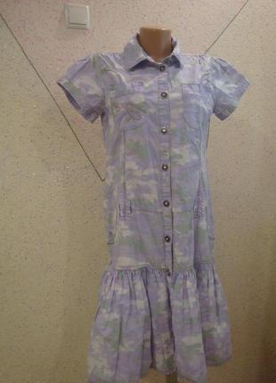 Распродажа!!!модное платье - рубашка с баской. размер 10-143