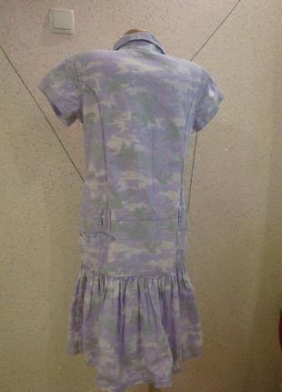 Распродажа!!!модное платье - рубашка с баской. размер 10-142