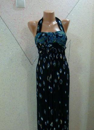 Красивое платье сарафан в королевский принт. размер 6-10