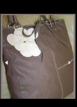 Vip стильная большая кожаная сумка торба 100% натуральная кожа rocha.john rocha