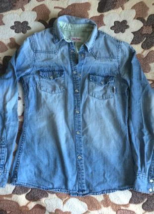 Джинсовка джинсовая рубашка john baner