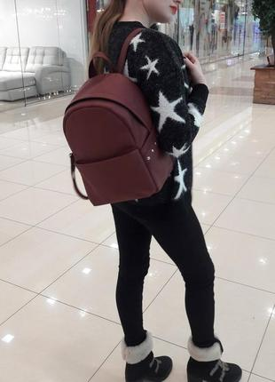 Женский рюкзак самбег бордо