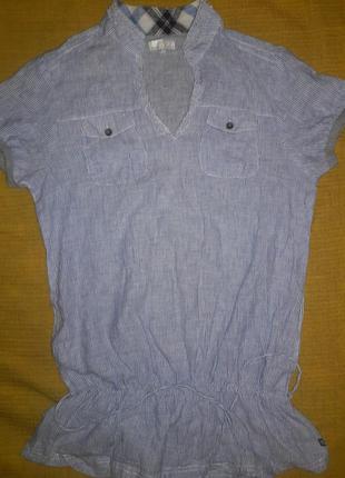 Блуза-туника лен размер l