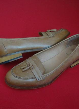 Туфли лоферы clarks натур кожа 41 размер