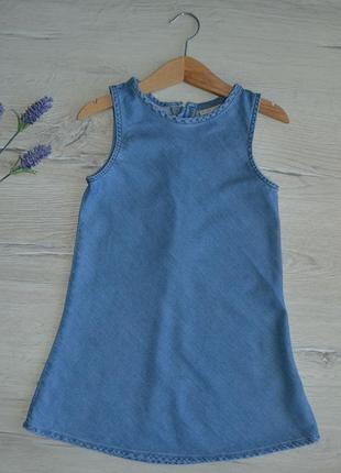5 лет, платье джинсовое на молнии,next