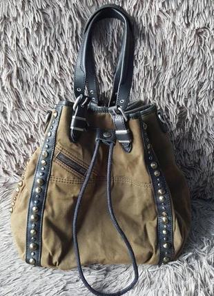 Оригинал.фирменная,стильная,крутая сумка-узелок-трансформер diezel