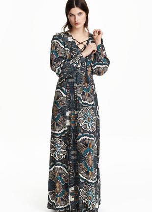 Платье макси с рисунком h&m арт 0379269