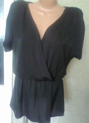 Черная блуза*на запах   от  biaggini