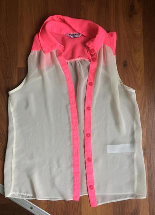 Прозрачная рубашка new look)