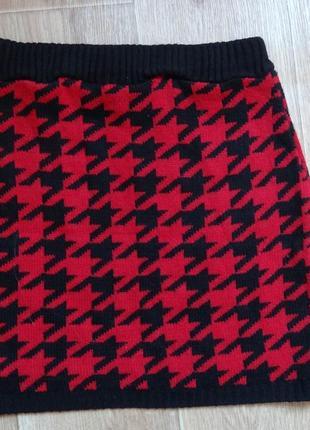 Прикольная теплая короткая юбка на осень- зиму