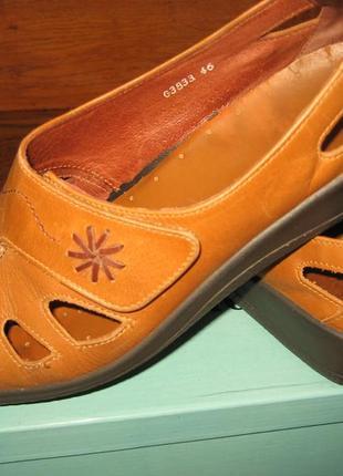 Кожаные англия босоножки hotter мокасины балетки туфли