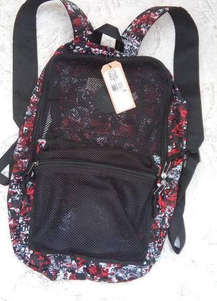 Летний рюкзак converse красно бело черный