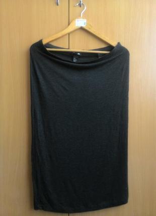 Простая стрейчевая миди-юбка от hm