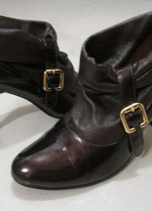 Ботинки ботильоны осень натуральная кожа лак размер 38,5 - 39