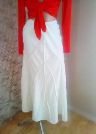 Льняная юбка длинная годе.