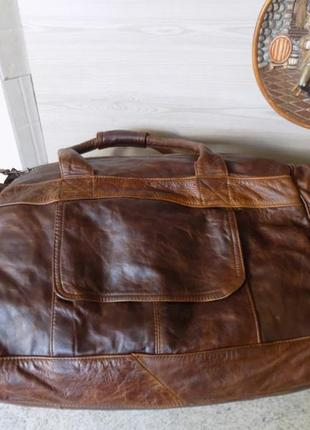 Огромная дорожная сумка из натуральной кожи из канады, отличное состояние.