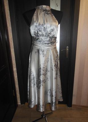 Вечернее платье из 100% шелка