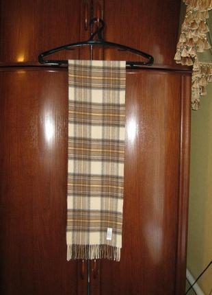 Шарф marks&spencer, натуральный кашемир шерсть, великобритания