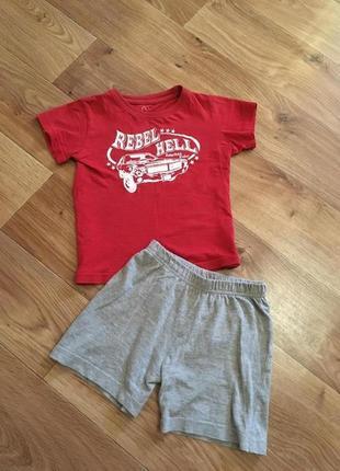 Комплект шорты и футболка на мальчика 1-3 лет