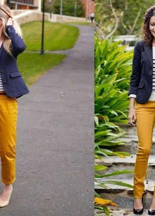 ♥цвета охры стильные джинсы♥