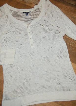 Ажурный свитер кофта