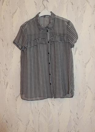 Рубашка с воланами в клетку h&m