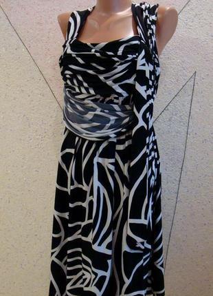 Супер предложение!!!шикарное плате с драпировкой на пояске и юбкой полусолнце. размер14-18