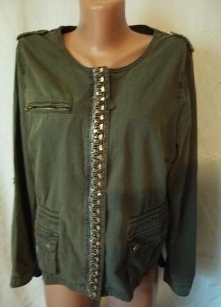 Куртка курточка ветровка с бисером коттон