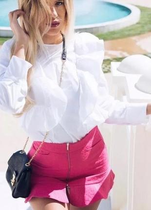 Юбка цвета фуксии от zara