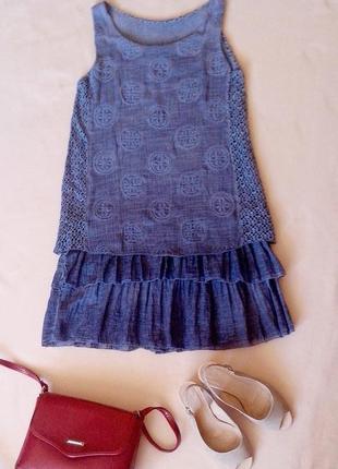 Модное летнее двухслойное платье