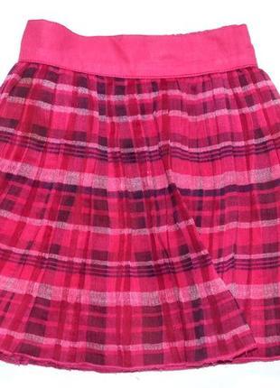 Nut meg юбка плиссе шифон на хлопковом подъюбнике. 3-4 года. рост 98-104 см.