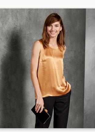 Золотистая вискозная блуза майка. esmara. наш 48