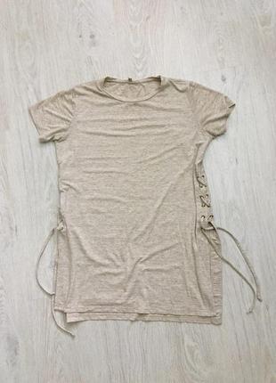 Крутая длинная футболка