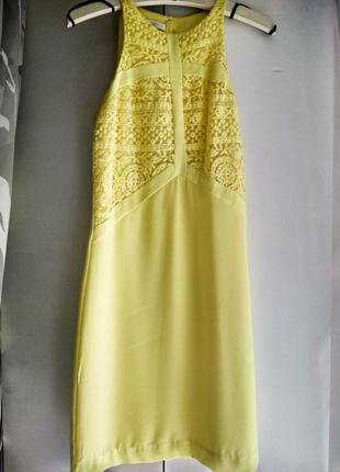 Платье лимонного цвета promod