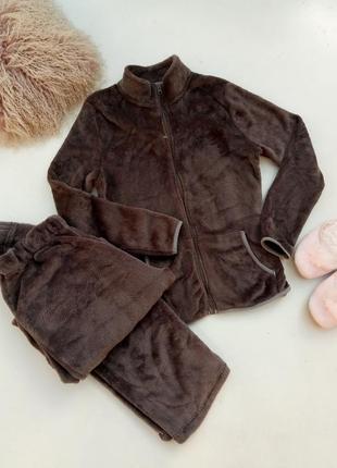 Домашний теплый костюм пижама р м