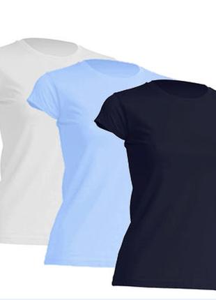 Комплект базовых однотонных футболок «3 в 1» 100% хлопок размеры испания