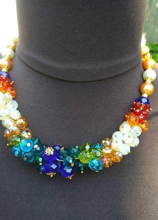Колье кристаллы, ожерелье