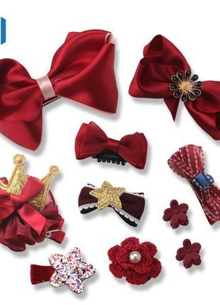 Набор заколок для девочки под любой наряд, новые, бантики, цветочки