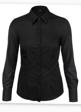 Базовая черная рубашка esmara 100% хлопок