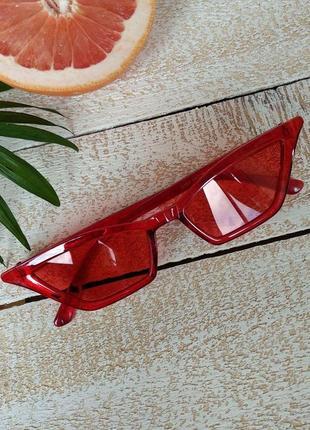 Sci fi очки солнцезащитные трендовые ретро винтажные узкие унисекс