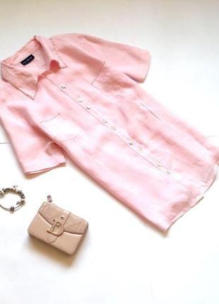 Розовая льняная рубашка. смотрите мои объявления!