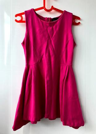 Платье фуксия короткое zara