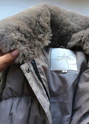 Брендовая жилетка с мехом pinko