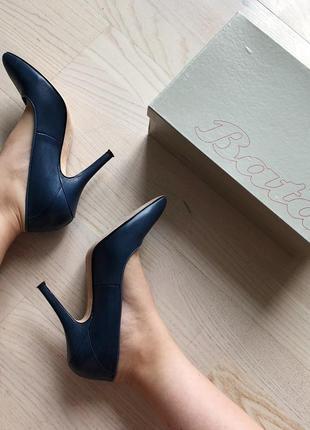 Синие лодочки туфли bata1 фото