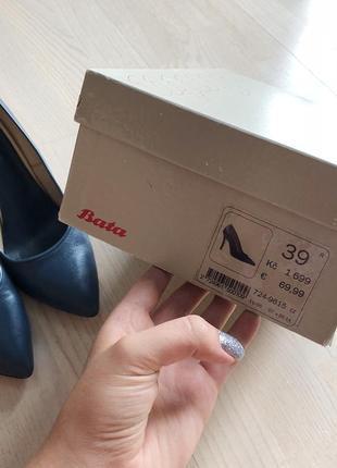 Синие лодочки туфли bata3 фото