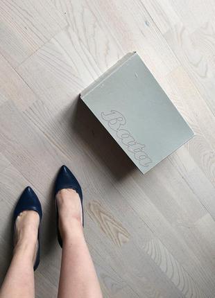 Синие лодочки туфли bata2 фото
