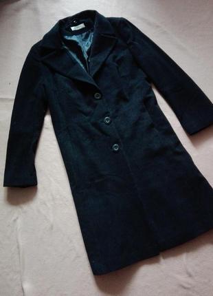 Длинное шерстяное пальто george