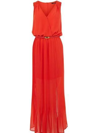 Платье макси с плиссе oasis 14 размер