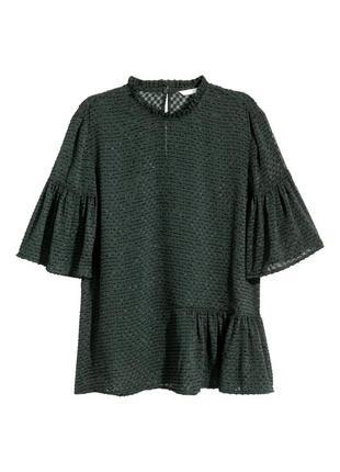 Топ с оборками / блуза / футболка h&m