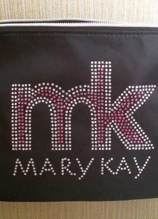 Дорожная косметичка со стразами на подкладке мери кей mary kay